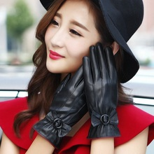 Fashion Women Touch Screen Leather Gloves Comfortable Warm