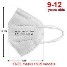Dust Pollution Face Mask For Children Kn95mask Kids Ffp2mask Masque Washable Fabric Mascarillas Niños CE Protective Mouth
