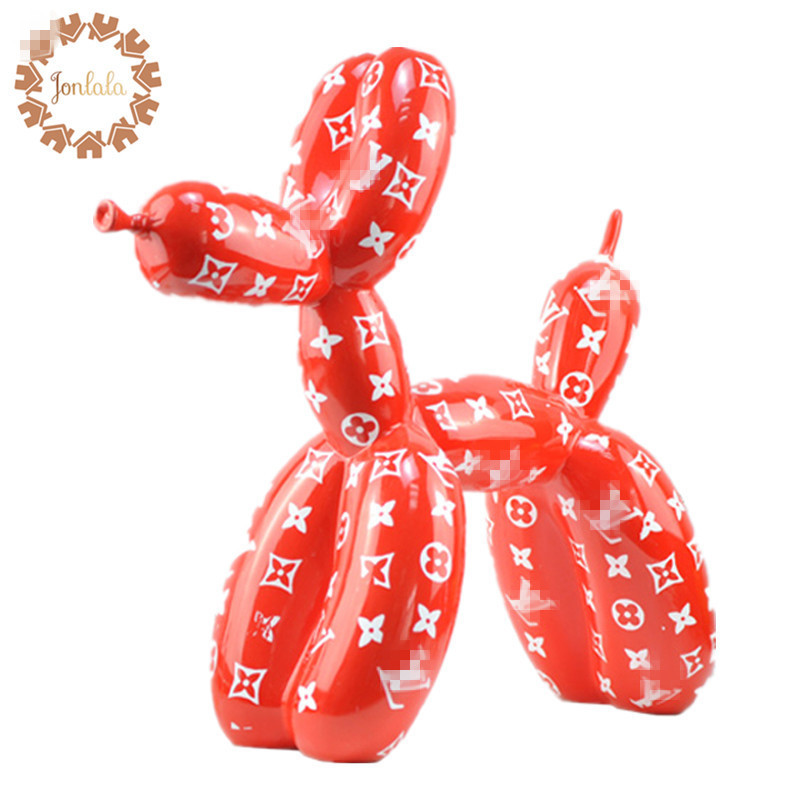 Hot!!! Color Customize Pattern Design Balloon Dog Special Statue Modern Sculpture Home Decoration Bulldog Resin Art Ornament