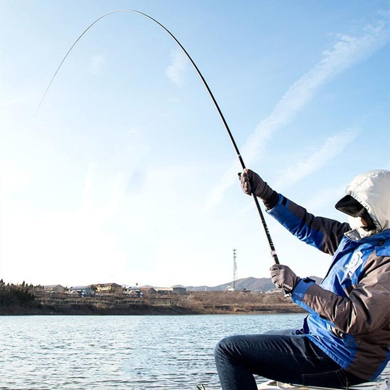 Telescopic Fishing Rod 3.6m-10m High Quality Carbon Fiber Ultra Light Hard Pole