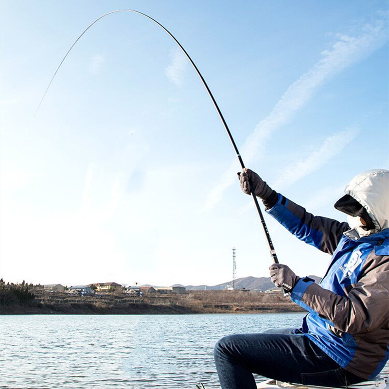 Fishing High Quality Carbon Fiber Telescopic Power Hand Pole Fishing Rod 2.7M-10M Travel Ultra light Carp Fishing Rod Feeder VBONI