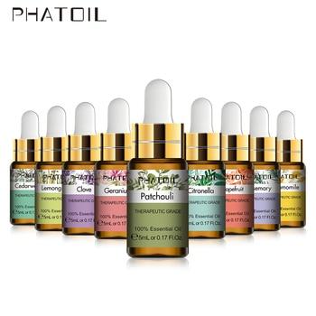 5ml Patchouli Geranium Essential Oil Diffuser Pure Natural Aroma Essential Oils Chamomile Cinnamon Lemongrass Rosemary Cedarwood недорого
