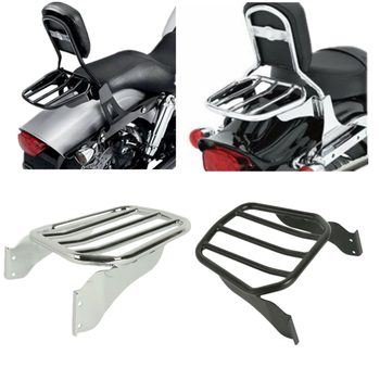 Motorcycle Sissy Bar Sport Luggage Rack For Harley Fat Boy Softail Springer Custom 07-later