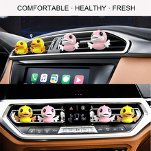 dropshipping Car Aromatherapy Diffuser Cute Flying Duck Cartoon Air Vent Clip Freshener Perfume OE88