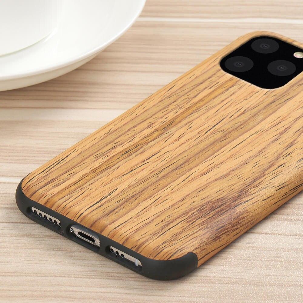 H57a46713df514aef8f75e5d4bece8e0cV LAPOPNUT Case for Iphone 11 Pro Xs Max Xr X 7 8 Plus 6 6s 5 5s SE Apple Wood Grain Flexible TPU Silicone Hybrid Slim Cover Coque