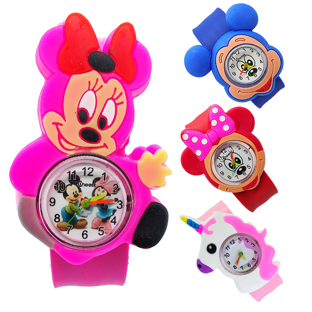 Relogio Infantil Cartoon Animal Kids Watches Life Waterproof Rubber Quartz Children's Watch For Girls Boys Child Kid Clock Baby