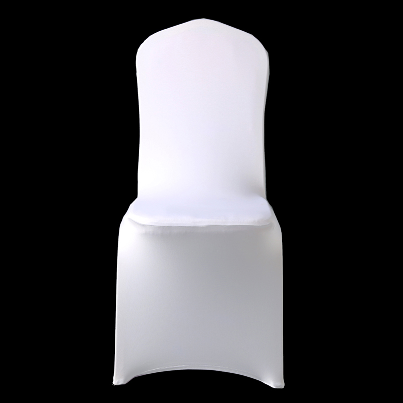 100Pcs Popular Cheap Wedding Celebration Ceremony Chair Covers White Elastic Party Chair Cover Banquet Dining Chair Cloth NEW image