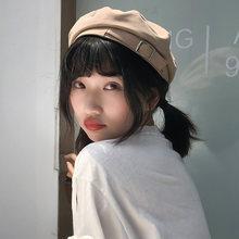 Ht3155 новинка женские береты винтажная плоская шляпа художника