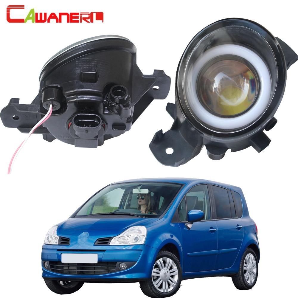 Cawanerl pour Renault Grand Modus 2004-2013 voiture H11 LED ampoule antibrouillard Angel Eye feux de jour DRL 3000LM 12V 2 pièces