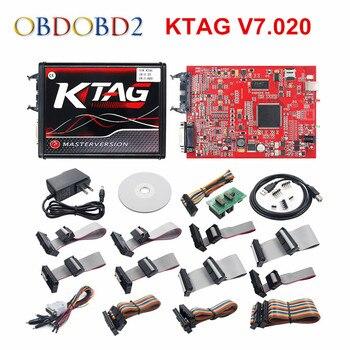 Online KTAG V7.020 OBD2 Manager Tuning KTAG 7.020 2 LED K-TAG V2.25 Auto ECU Programmer K TAG 2.25 фото