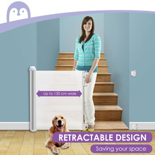 Baby-Safety-Gate Retractable Indoor/outdoor Mesh for Doorways Stairs Lightweight