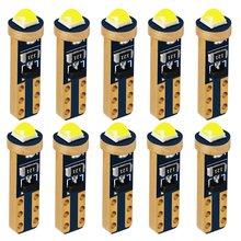10 Uds T5 W1.2W W3W 74 bombillas LED súper brillantes luz Interior del coche CANBUS Auto cuña lateral tablero de instrumentos