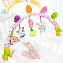 Baby Bed Hanging Toy Cute Newborn Rattles Baby Toys Infant Stroller Toys 0-12 Months Baby Crib Mobiles Soft Animal Plush Toys(China)