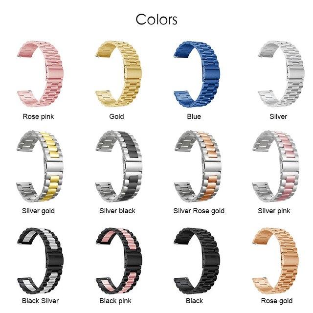 For Xiaomi Huami Amazfit GTR 47mm 42mm Wrist Strap Metal Bracelet Band for Amazfit Stratos 2 3 Amazfit GTS Watchband 20mm 22mm 1
