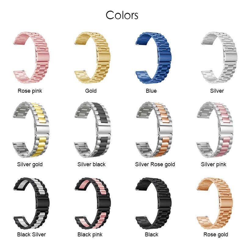 חדש מתכת רצועת לxiaomi Huami Amazfit GTS שעון נירוסטה צמיד יד בנד עבור Amazfit GTR 42mm/ ביפ לייט רצועת השעון