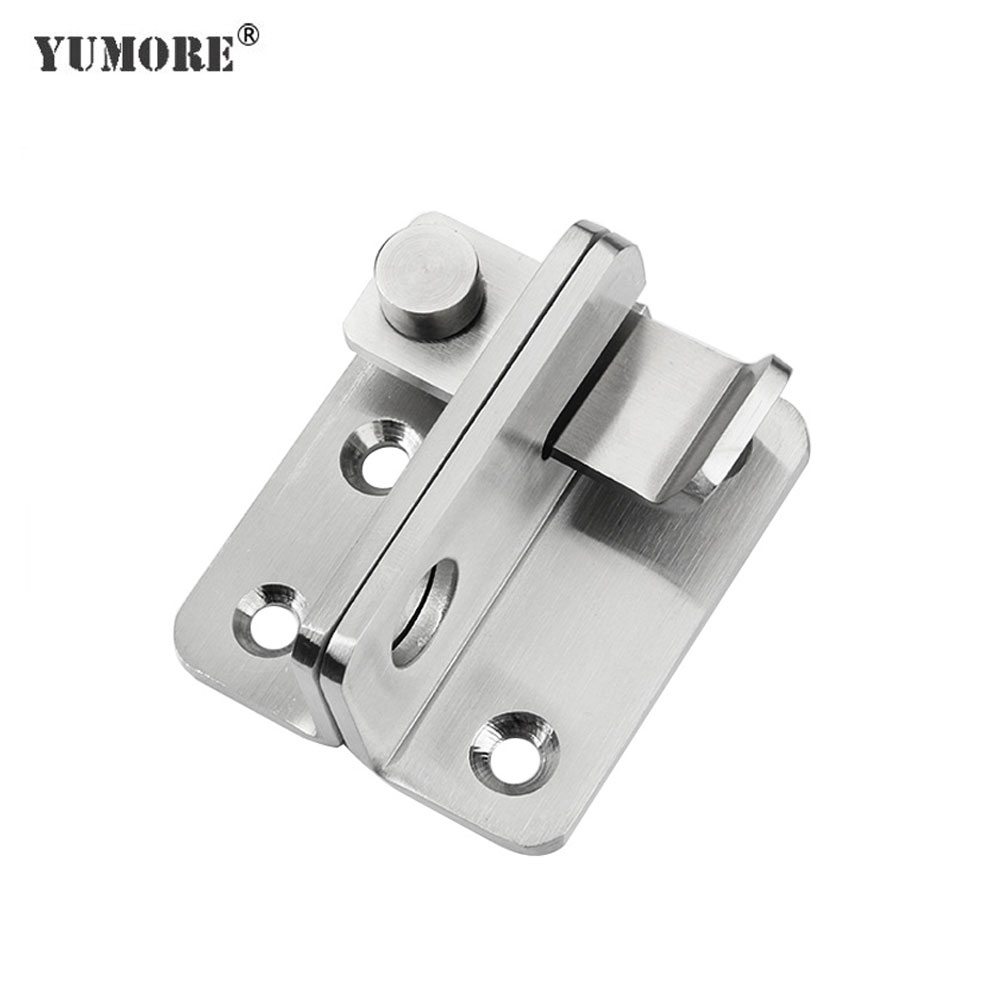 YUMORE Stainless Steel Door Latch Bolts Hasp Hardware for Home Hardware Gate Safety Door Bolt Latch Lock With Screws|Door Bolts| - AliExpress