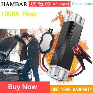 HAMBAR Car Jump Starter High Power Portable Car Charger Multi-function Start Jumper Emergency Car Battery Booster