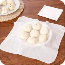 Bawełna nieprzywierająca mata do gotowania na parze okrągła tkanina na parze bułeczki na parze tkanina filtracyjna przybory kuchenne akcesoria domowe narzędzie tanie tanio CN (pochodzenie) Ekologiczne CE UE Filter Cloth Non-stick white
