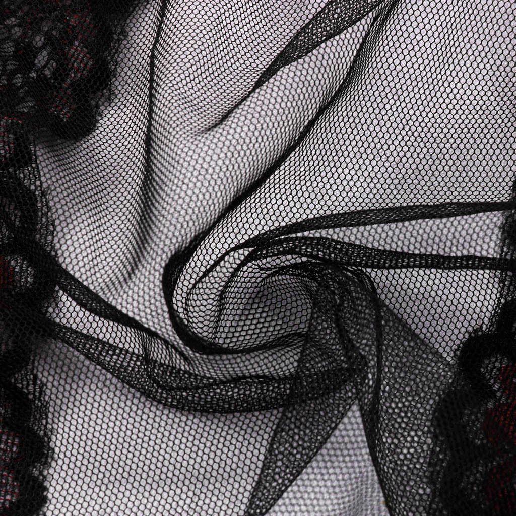 MIARHB erotik iç çamaşırı fishnet bodysuit tayt açık crotch seksi iç çamaşırı bodystocking siyah dantel perspektif babydoll pijama
