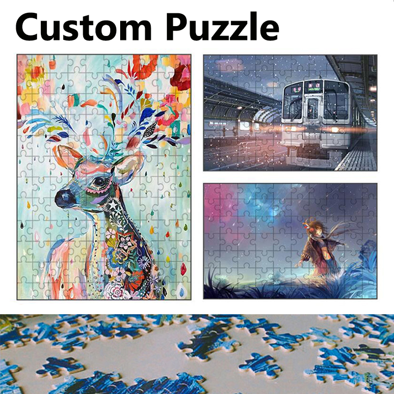 9/35/70/120/200Pcs Photo Custom Wooden Personalized Jigsaw Puzzle Picture DIY Toys For Adults Decoration Collectiable
