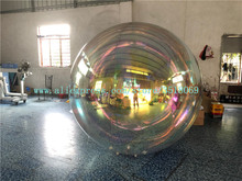 2m giant inflatable hanging mirror ball/inflatable Hanging Disco Ball/inflatable ball for show on sale