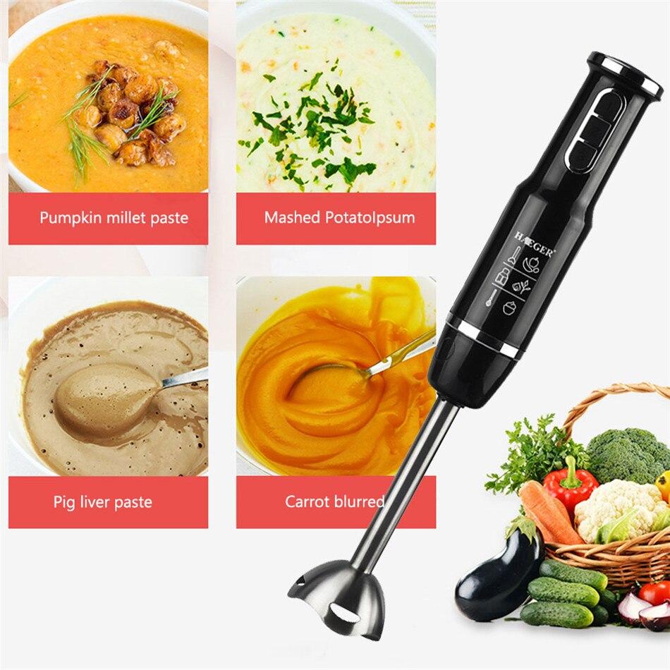 4YANG mélangeur pour cuisine 4 en 1 robot culinaire bâton avec hachoir fouet électrique presse-agrumes mélangeur Machine