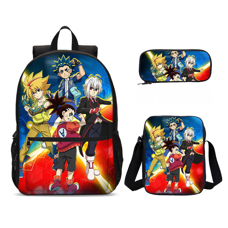 NARUTO0 Kids Backpack School Bag Boys Bookbag Handbags Pencil Case 3PCS Set Gift