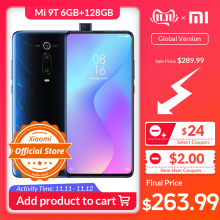 Xiaomi 9T 6GB 128GB Mi-9t Redmi K20 GSM/LTE/WCDMA Nfc Quick Charge 4.0 Game turbogpu turbo/Elevating camera/Bluetooth 5.0/Gorilla glass