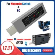 Mayflash Không Dây Cho PS4/PS3/Xbox One S Bộ Điều Khiển Chiến Đấu Dính Adapter Magic NS Để Cho Nintend switch NS PC/NEOGEO MINI