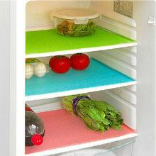 Модный бренд 4 шт 29x45 см Антибактериальный коврик для холодильника Противоскользящий коврик для поглощения плесени