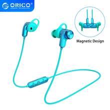 Orico Draadloze Oortelefoon Bluetooth5.0 In-Ear Muziek Gaming Headset Magnetische Nekband Halter Sport Hoofdtelefoon Voor Iphone Huawei