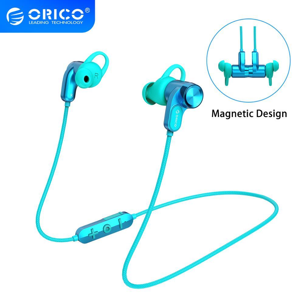 ORICO Wireless Kopfhörer Bluetooth 5,0 In-Ohr Musik Gaming Headset Magnetische Neckband Halter Sport Kopfhörer Für iPhone Huawei