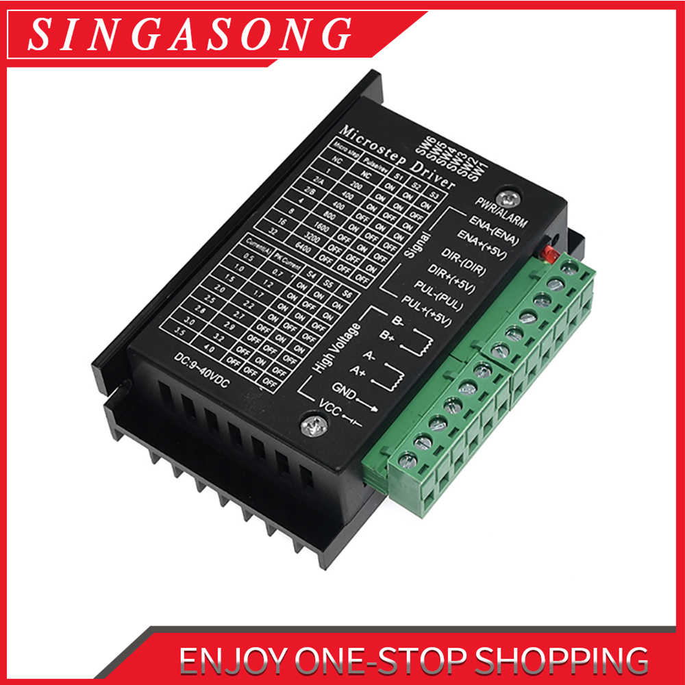 Livraison gratuite moteur pas à pas pilote TB6600 Nema 23 Nema 34 42/57/86 Nema17 4A DC9-40V 1 axe moteur pas à pas CNC Machine de gravure