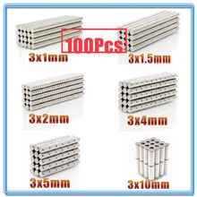 100 pz Mini piccolo magnete rotondo N35 3x1 3x1.5 3x2 3x4 3x5 3x10mm magnete al neodimio permanente NdFeB magneti potenti Super potenti