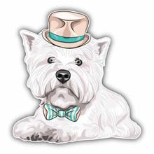 Интересная Автомобильная наклейка west highland white terrier