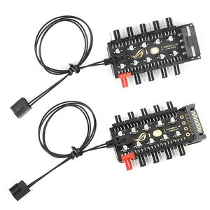4pin Fan Hub Motherboard 1 to 10 4 Pin PWM Cooler Fan HUB Splitter Extension 12V Power Supply Socket PC Speed Controller Adapter