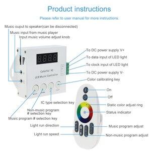 Image 5 - WS2812B WS2811 WS2813 6803 USC1903 IC デジタルアドレス可能 Led ストリップ音楽リモート 1000 ピクセルカラフルなコントローラ X2 X1 DC 5  24V
