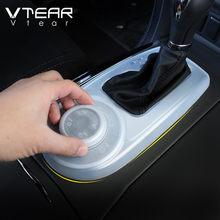 닛산 순찰 Y62 인피니티 QX80 함대 기어 시프트 패널 커버 부드러운 고무 인테리어 방진 기어 박스 액세서리 자동차에 대한 Vtear