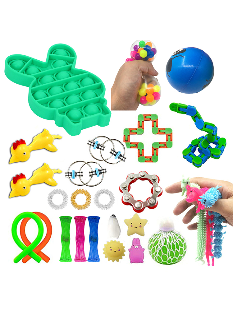 24 Pack Fidget Toys Set Anti Stress Autism Anxiety Relief Stress Squeeze Toys Fidget
