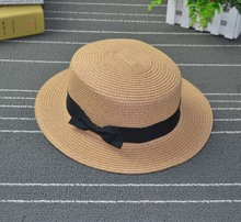 Fashion Hawaiian Straw Hat Sun Hats Beach Hat Female Casual Panama Hat Women Flat Brim Bowknot Straw Cap Girls Sun Hat fashion parent child straw sun hat cute children sun hats women bow straw cap beach big brim panama hat casual glris summer cap
