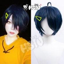 Ohto-Peluca de Cosplay Ai de Wonder Egg, Cosplay de la marca HSIU, pelo corto negro y azul, accesorios para el cabello + red para peluca, regalo