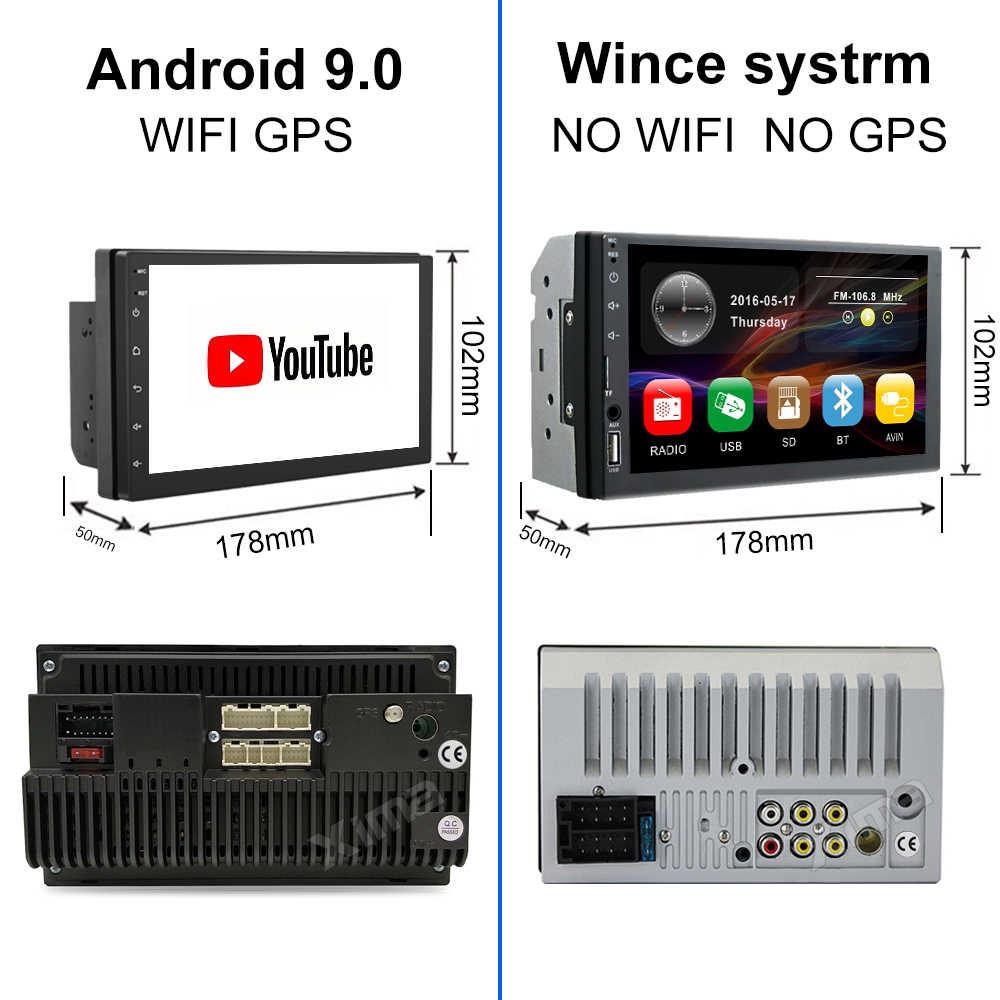 "XIMA Android9.0 2Din راديو السيارة مشغل وسائط متعددة 7 ""العالمي RAM2G لتحديد المواقع والملاحة مشغل الصوت لنيسان تويوتا هيونداي بولو"