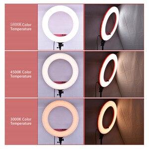 Image 5 - Fosoto 18 polegada iluminação fotográfica 100w led anel de luz de vídeo lâmpada com espelho ringlight para câmera do telefone youtube maquiagem