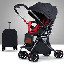 Baby Stroller Can Sit and Lie, Two-way Super Portable Folding Newborn BB Children's Pocket Trolley Baby Stroller  Stroller