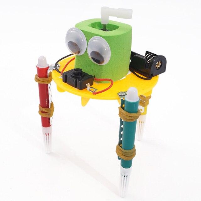 اختراعات طفل ألعاب تعليمية للأطفال تجربة العلوم الابتدائية والثانوية التعلم المبكر DIY بها بنفسك خربش روبوت التكنولوجيا