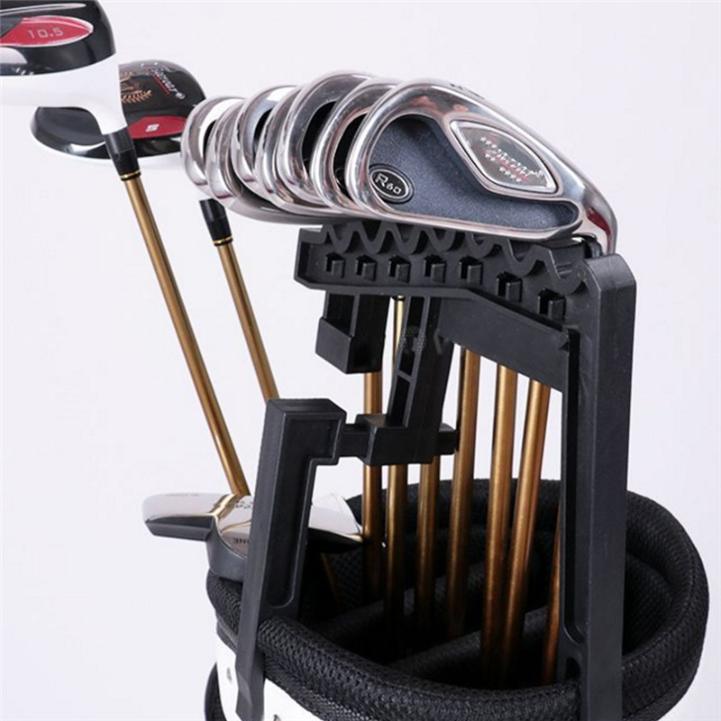 Portable Golf Bag 9 Iron Club Holder Stacker Rack Organizer Accessories Golf Club Rack