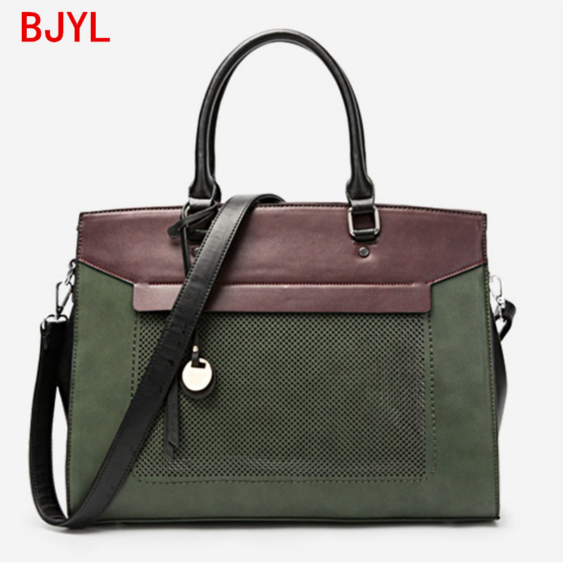 Luxury Fashion Women Handbag Document Briefcase Shoulder Tote Bag Female 14 Inch Laptop Bag Leather Messenger Crossbody Bags
