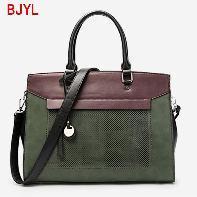 Luxury Fashion Women Handbag Document Briefcase Shoulder Tote Bag Female 14 Inch Laptop Bag Leather Messenger Crossbody Bags