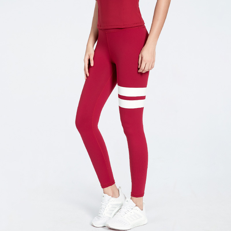 Yoga Pants Women's Autumn And Winter High-waisted Peach Hip Leggings Running Quick-Dry Joint Sports Fitness Pants