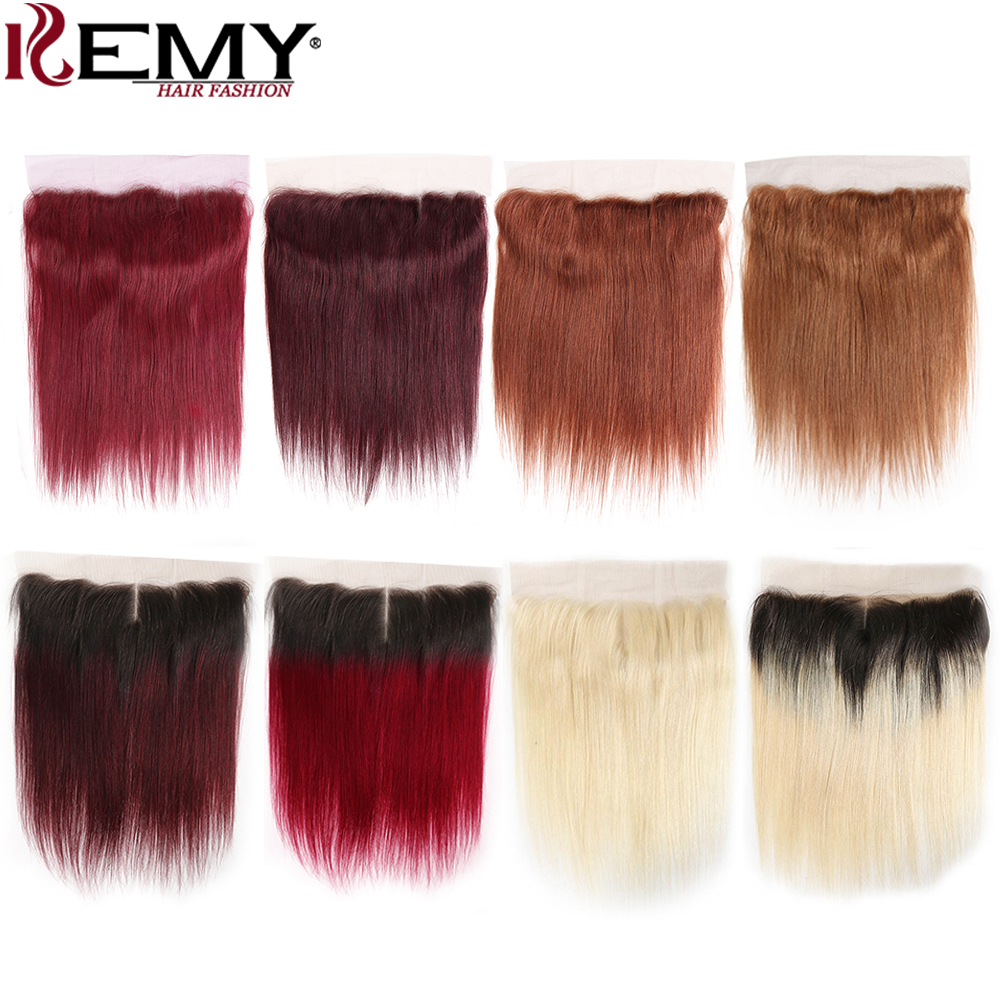 13x4 Lace Frontal Closure Brazilian Straight Human Hair Ear To Ear Closure Free/Middle Part Swiss Lace Closure Non-Remy KEMY